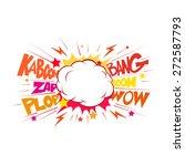 boom. comic book explosion.hand ... | Shutterstock .eps vector #272587793
