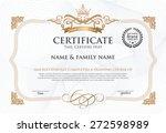 ertificate design template.  | Shutterstock .eps vector #272598989