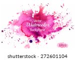 colorful abstract watercolor... | Shutterstock .eps vector #272601104