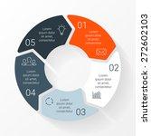vector circle arrows... | Shutterstock .eps vector #272602103