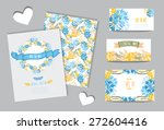 elegant cards with floral... | Shutterstock .eps vector #272604416