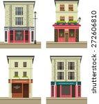 set illustration storefront on... | Shutterstock .eps vector #272606810
