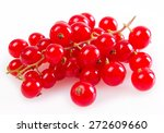red currant isolated on white... | Shutterstock . vector #272609660