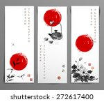 set of banners hand drawn in... | Shutterstock .eps vector #272617400