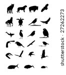 wildlife animal silhouttes... | Shutterstock . vector #27262273