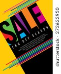sale shopping background and... | Shutterstock .eps vector #272622950