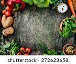healthy food ingredients... | Shutterstock . vector #272623658
