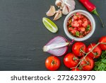 Salsa Sauce And Ingredients  ...