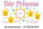 set of frames for the newborn... | Shutterstock .eps vector #272626364