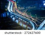traffic at night  shanghai... | Shutterstock . vector #272627600