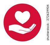 hand holding heart. | Shutterstock .eps vector #272629904