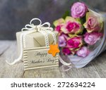 mother's day gift with bunch of ...   Shutterstock . vector #272634224