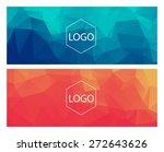 horizontal polygonal banners | Shutterstock .eps vector #272643626