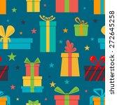 vector seamless pattern of gift ... | Shutterstock .eps vector #272645258