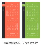 vector set of calendar widget...