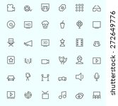 cinema icons  simple and thin... | Shutterstock .eps vector #272649776