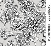 seamless floral pattern with... | Shutterstock .eps vector #272650250