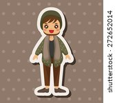 boy man cartoon theme elements | Shutterstock .eps vector #272652014