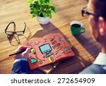 web design web development... | Shutterstock . vector #272654909
