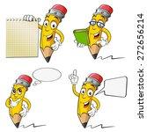 Set Of Cartoon Pencil