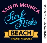 surf typographic for t shirt... | Shutterstock .eps vector #272658758