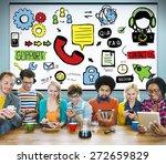customer service support... | Shutterstock . vector #272659829