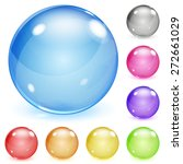set of multicolored opaque... | Shutterstock .eps vector #272661029