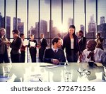 Stock photo business people office working discussion team concept 272671256
