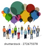 casual people message talking... | Shutterstock . vector #272675378