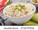 a delicious homemade creamy... | Shutterstock . vector #272679356