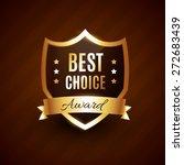 best choice golden award label... | Shutterstock .eps vector #272683439