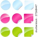 set of multicolored badges in... | Shutterstock .eps vector #27268447