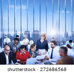 business team discussion... | Shutterstock . vector #272686568