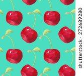 summer fruit pattern.... | Shutterstock .eps vector #272689280