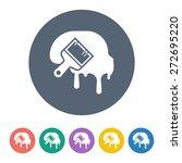 brush icon.    Shutterstock .eps vector #272695220