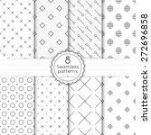 vector set seamless pattern... | Shutterstock .eps vector #272696858