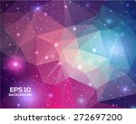 universe space beautiful... | Shutterstock .eps vector #272697200
