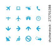 airport icons universal set for ... | Shutterstock .eps vector #272701388