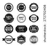 vector black vintage badges ... | Shutterstock .eps vector #272702408