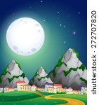 view of fullmoon over the... | Shutterstock .eps vector #272707820