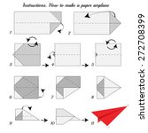 instructions how to make paper...   Shutterstock .eps vector #272708399