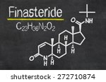 Small photo of Blackboard with the chemical formula of Finasteride