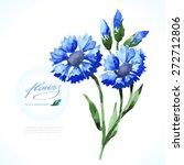vector watercolor blue...   Shutterstock .eps vector #272712806