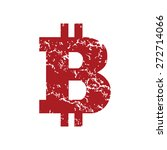 red grunge bitcoin logo on a... | Shutterstock .eps vector #272714066