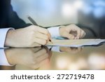 business worker signing the... | Shutterstock . vector #272719478
