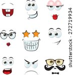 set of cartoon faces with... | Shutterstock .eps vector #272719934