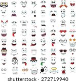 set of cartoon faces with... | Shutterstock .eps vector #272719940