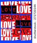 pop art style color love letter ... | Shutterstock .eps vector #272720144