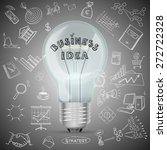 bulb with drawing business... | Shutterstock .eps vector #272722328