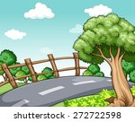 scenery of a road and trees on... | Shutterstock .eps vector #272722598
